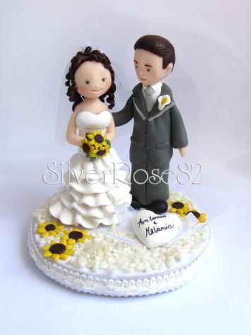sposi matrimonio cake topper